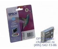 Картридж светло-голубой Epson T0805 оригинальный